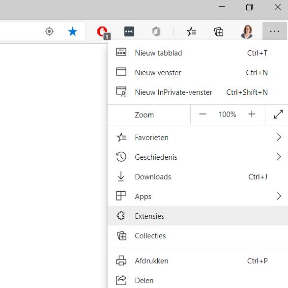 Browser uitbreiden met extenties