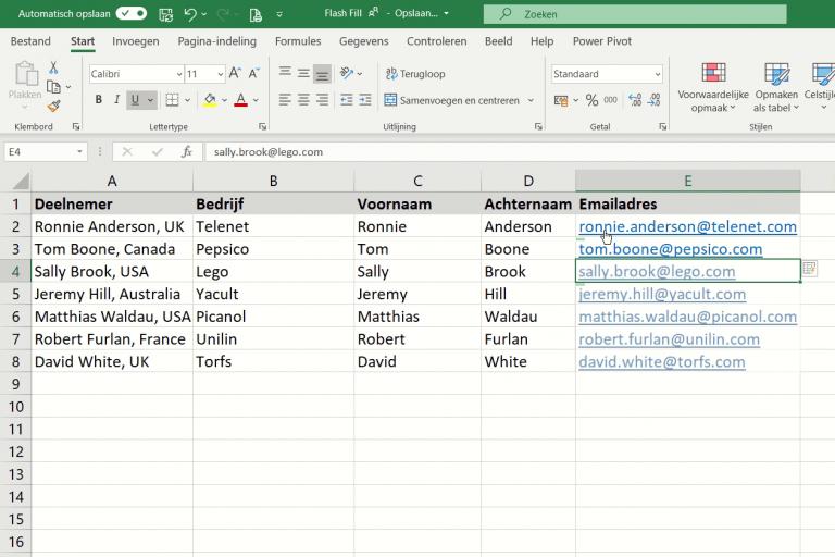 Snel gegevens splitsen in Excel zonder ingewikkelde tekstfuncties te gebruiken?